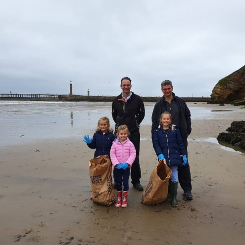 Cleaning the beach - Fuscos of Whitby